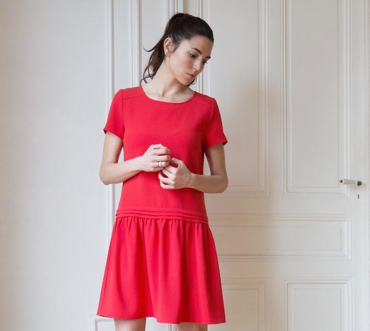 La robe framboise de L'atelier de Camille